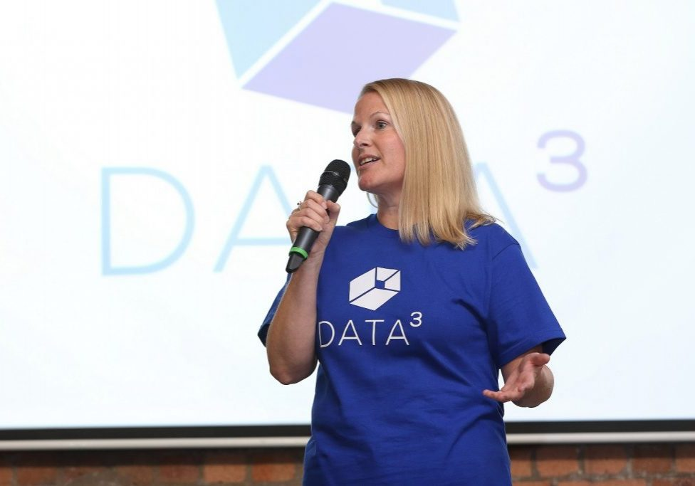 Helen Tanner, CEO of Data Cubed pitching at Tech-Xpo