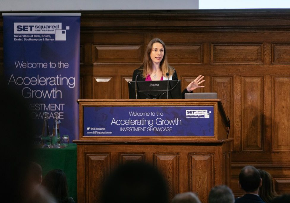 Monika speaking at Accelerating Investment Showcase