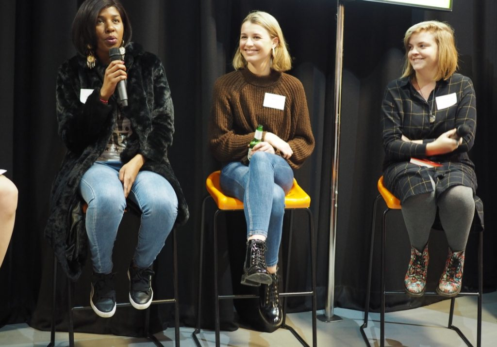 Speakers at Back Her Business event